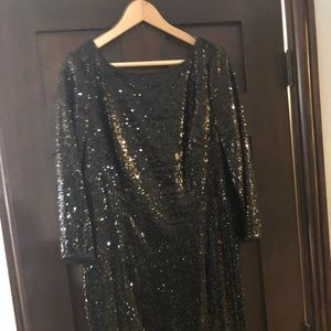 Knee length sequined dress